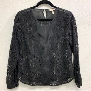 Rebecca Taylor Blouse Black Long Sleeve Size 6 🖤
